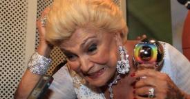 Hebe Camargo, a estrela do Domingão do Faustão (Foto: TV Globo / AgNews)