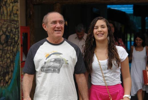 lívian aragão e renato aragão acampamento de férias globo
