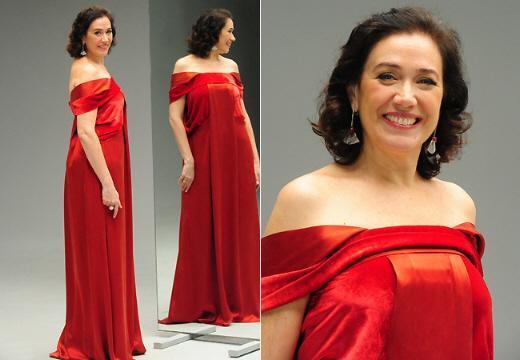griselda vestido vermelho lília cabral fina estampa (Foto ...
