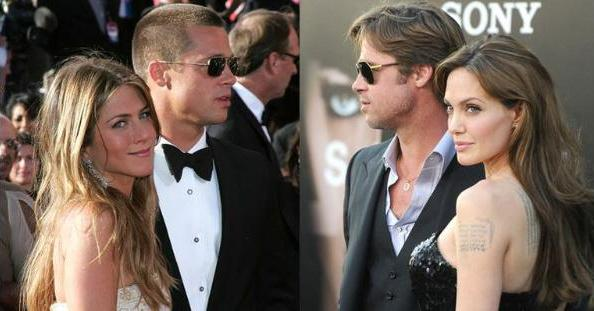 brad pitt, angelina jolie e Jennifer Aniston