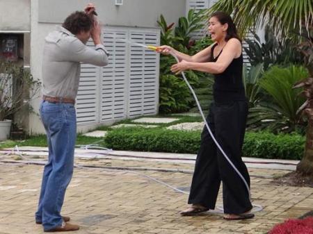 Griselda banho mangueira Guaracy Paulo Rocha Lília Cabral Fina Estampa