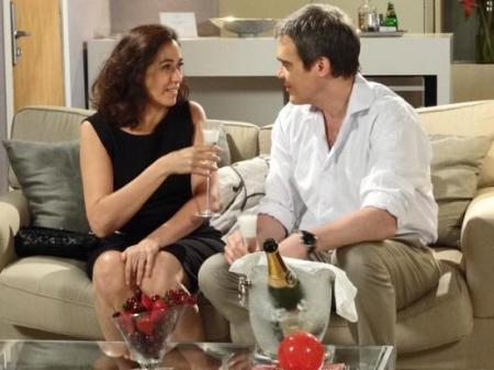 Griselda e René Lilia Cabral e Dalton Vigh namorando Fina Estampa