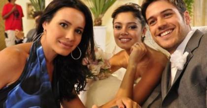 TV Globo divulgou as fotos do casamento de Amália (Sophie Charlotte) e Rafael (Marco Pigossi) na novela Fina Estampa