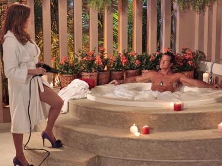 Tereza Cristina e Ferdinand banheira Fina Estampa