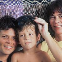 Cássia Eller, Chicão e Maria Eugênia (Foto: Reprodução/Contigo!)