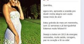 Juliana Paes exibe barriga de grávida (Foto: Reprodução / Facebook)