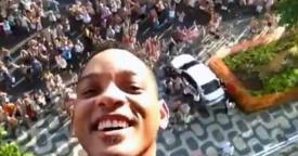 Will Smith no Carnaval do Rio de Janeiro 2013 (Foto: Facebook Will Smith)