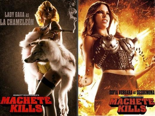 Lady Gaga e Sofia Vergara no filme Machete Kills