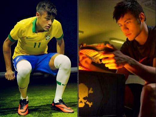 a676eb03b3fba Neymar exibe chuteira da Copa das Confederações - OsPaparazzi