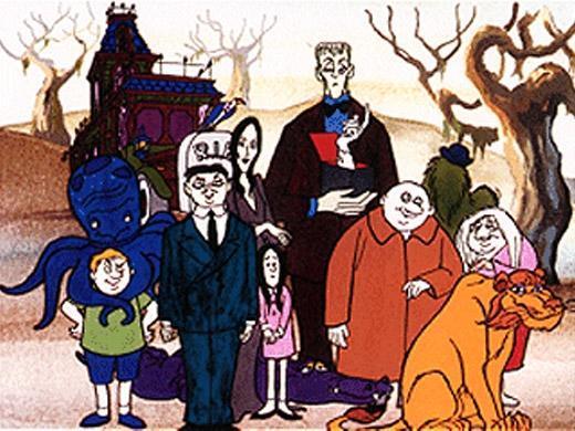 A Família Adamms: Gomez, Mortícia, Vandinha, Feioso, Tio Chico, Vovó, Mãozinha, Tropeço e Oito