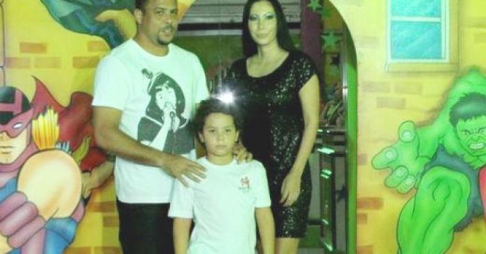 Ronaldo e filho Alex aniversário
