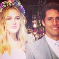 Fiorella Mattheis e Flávio Canto se casam no Rio de Janeiro