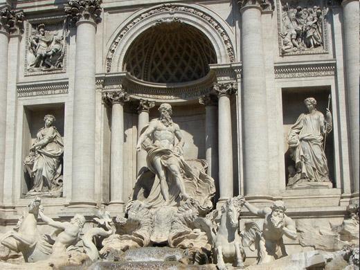 Pontos turísticos de Roma Fontana de Trevi