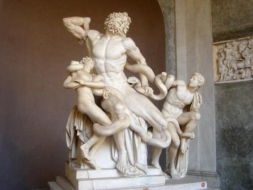 Laocoonte e Seus Filhos no museu do Vaticano