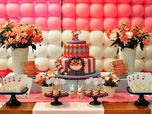 Festa de aniversário tema Alice no País das Maravilhas