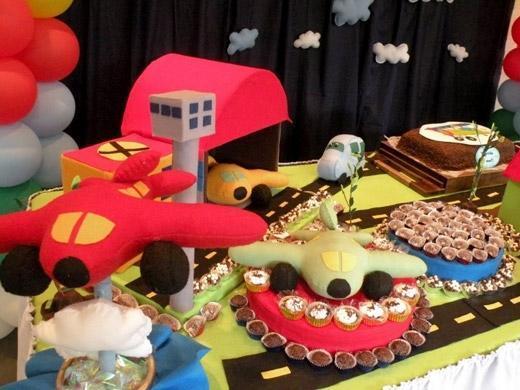 Festa de aniversário tema aviões