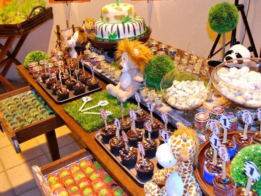 Festa de aniversário tema Safari