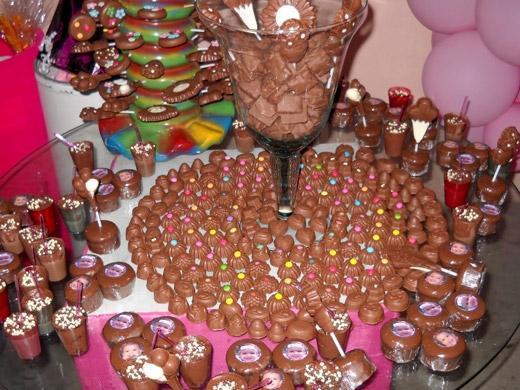 Decoração de chocolate para aniversário