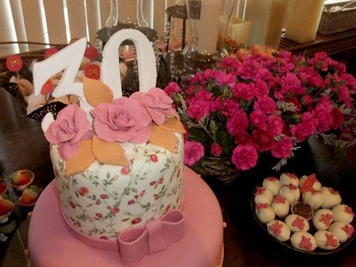 Festa de aniversário florido