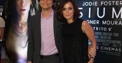 Em São Paulo, Wagner Moura e Alice Braga falam sobre o filme Elysium, de Hollywood