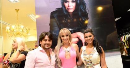 Andrea Costa e Silas Duarte recebe a Legendária Juju Salimeni em inauguração de loja em SJCampos - SP