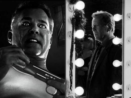 Ray Liotta e Bruce Willis no filme Sin City 2