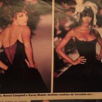 Betty Lago em fotos antigas com modelo Naomi Campbell (Foto: Reprodução/ Instagram)