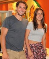 Flávio Canto e repórter Carol Barcelos (Foto: Divulgação/ Reprodução/ Instagram/ Rede Globo)
