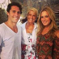 Flávio Canto e a ex-mulher Fiorella, com Xuxa (Foto: Divulgação/ Reprodução/ Instagram/ Rede Globo)