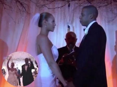 Beyoncé e Jay-Z casamento vestido de noiva