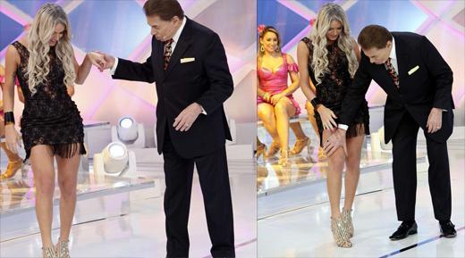 Silvio Santos e Thalita Zampirolli SBT