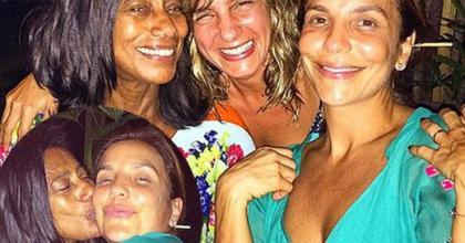 Jornalista Glória Maria divulga fotos de Ivete Sangalo sem maquiagem e ganha elogios