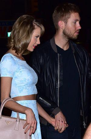 Calvin Harris e Taylor Swift namorando paparazzi