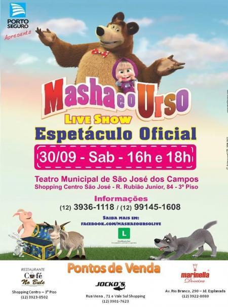 Masha e o Urso Live Show teatro infantil