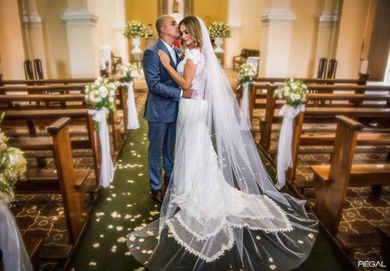 Agda Queiroz e seu vestido de noiva para o casamento