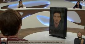 Felipe Neto no centro do Roda Viva na TV Cultura (Foto: Reprodução/ TV Cultura)