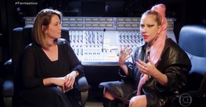 Lady Gaga em entrevista ao Fantástico na Globo