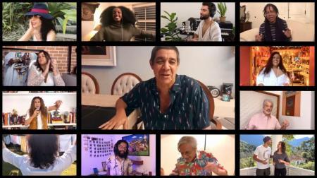 Amigos prestam homenagem no aniversário de 78 anos de idade de Gilberto Gil